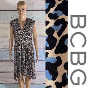 BCBG Animal Print Dress